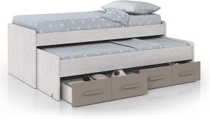 cama doble juvenil blanco y basalto 2020