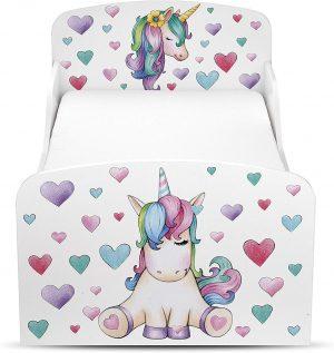 cama infantil unicornio corazones 2020