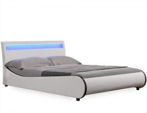 cama cuero sintetico con led 2020