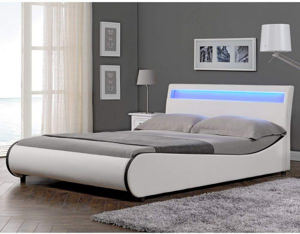 Cama Matrimonio con LED