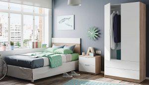 pack de muebles dormitorio juvenil blanco y roble 2020