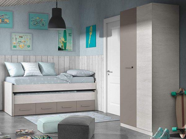 pack de mobiliario para dormitorio juvenil con cama nido 202'