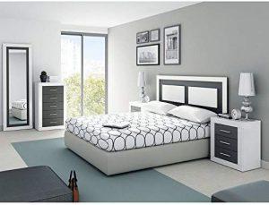 dormitorio de matrimonio moderno blanco y grafito 2020