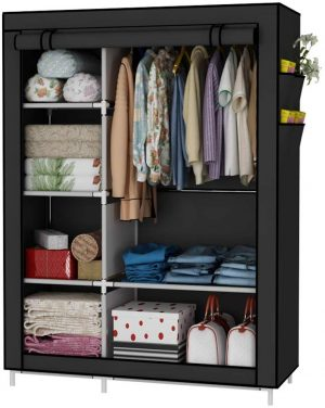 armario organizador ropa negro
