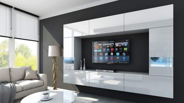mueble de tv con led 2020