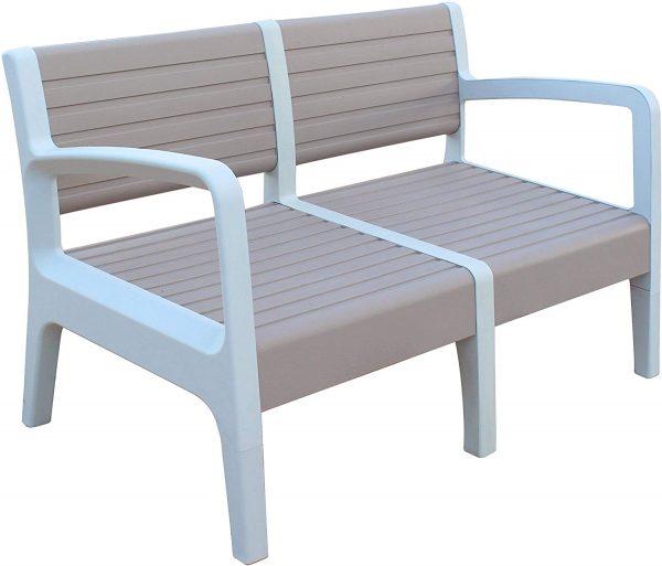 Conjunto muebles jardín terraza beige