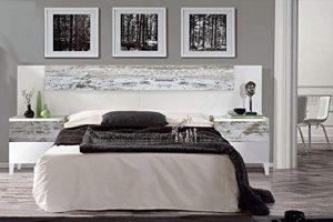 dormitorio matrimonio completo estilo vintage blanco y decape 2020