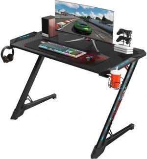 escritorio ergonomico videojuegos con luces RGB