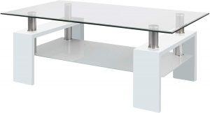 mesa de centro moderna de cristal 2020