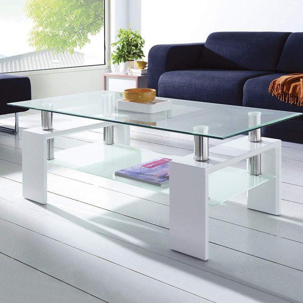 Mesa de centro moderna de cristal