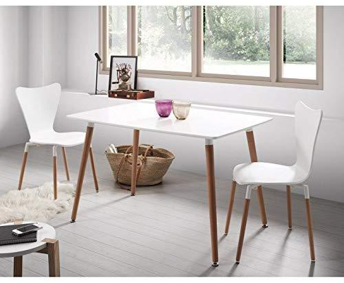 Mesa de comedor o cocina lacada blanca