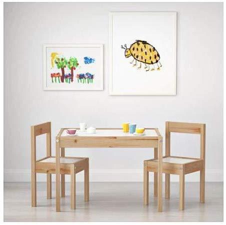 Mesa para niños con dos sillas blanco y pino