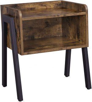 mesa auxiliar de estilo industrial vintage