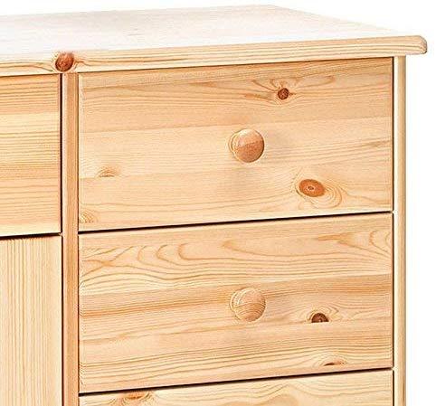 Mueble aparador 2 puertas 6 cajones pino natural