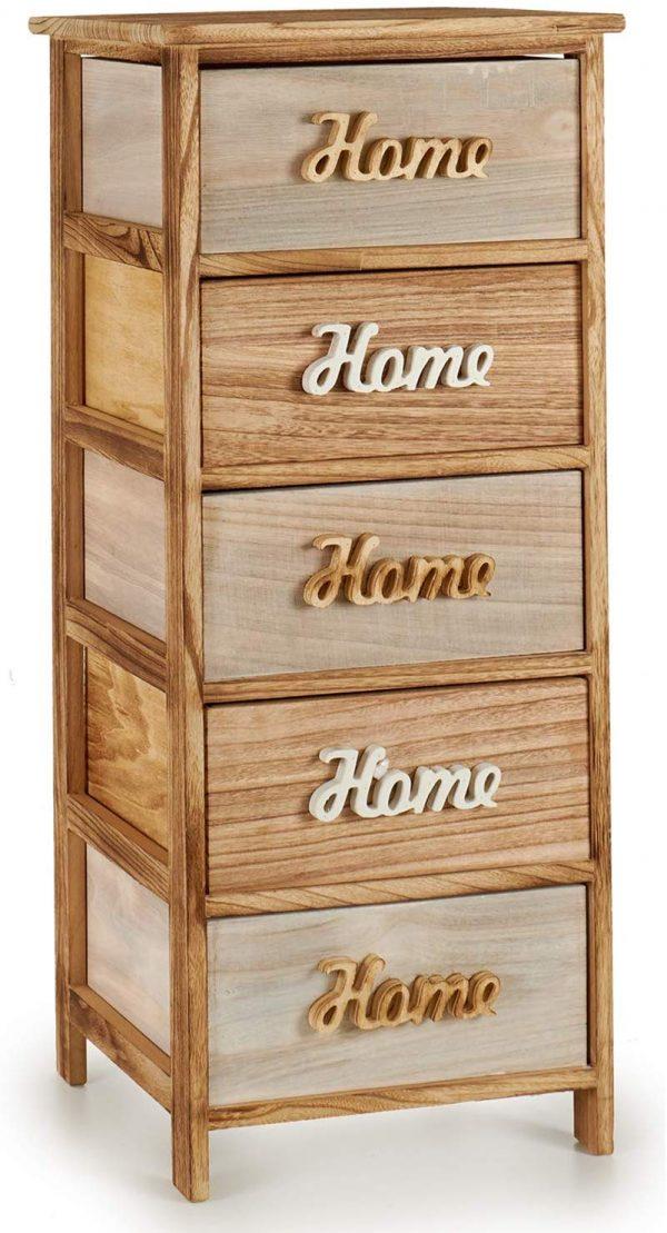 mueble auxiliar 5 cajones home