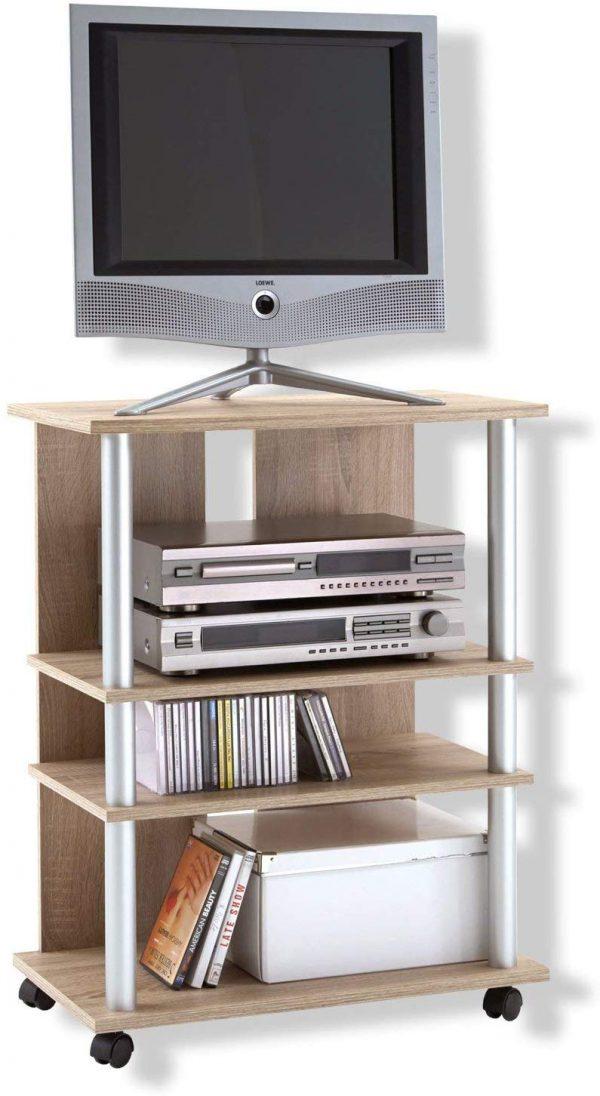 Mueble auxiliar para TV color roble