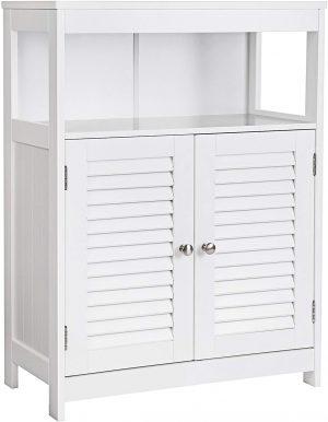 mueble baño auxiliar 2 puertas blanco