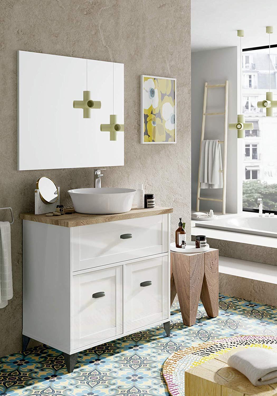 🥇 Mueble baño vintage blanco y cambrian - Tu tienda de ...