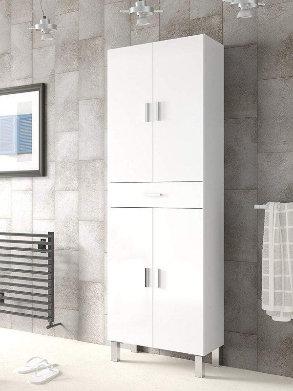 armario baño 2 puertas blanco