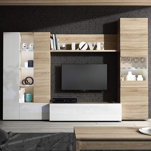 mueble de comedor con led 2020