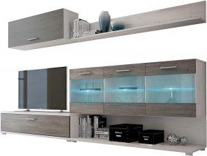 mueble salon vitrina con led 2020