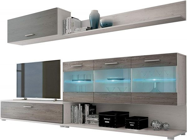 mueble salon vitrina con led 2020