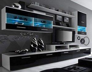 mueble salon moderno blanco y negro 2020