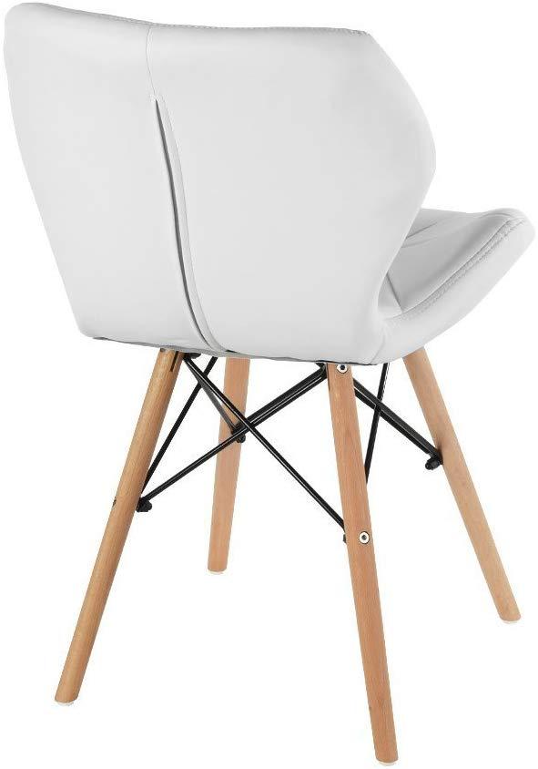 Pack 4 sillas comedor estilo retro blanco