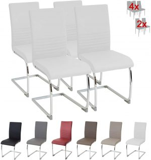 set 4 sillas burano blanco