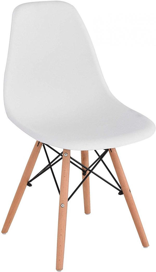 Set 4 sillas de comedor diseño ergonómico haya natural