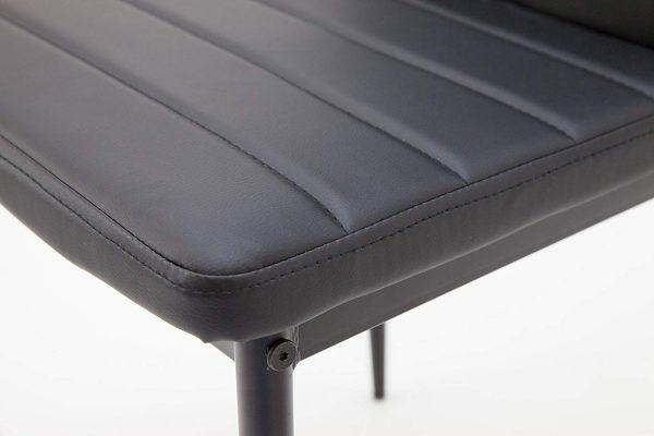 Set 4 sillas de comedor estructura metálica y piel sintética