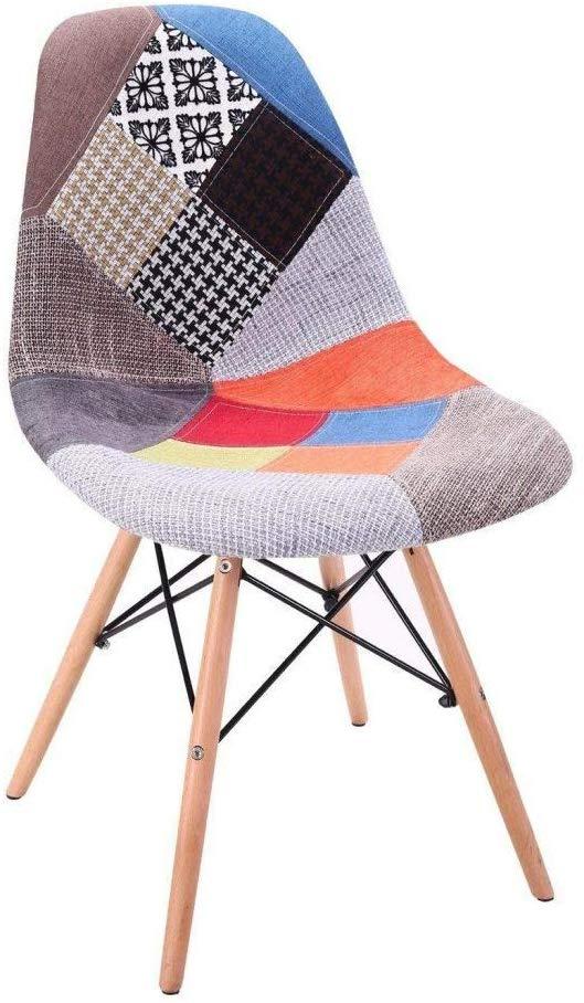 Set 4 sillas de comedor modernas tapizadas