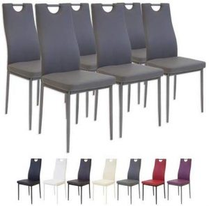 set 6 sillas comedor salerno gris