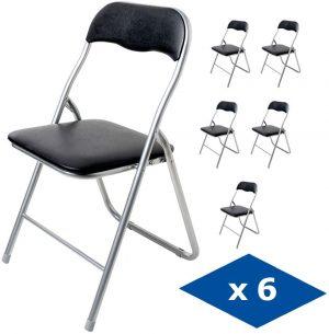 silla plegable negro