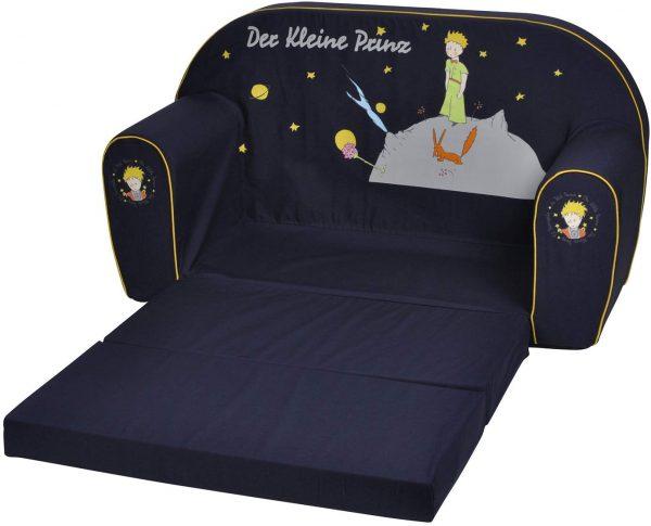 Sofá cama azul infantil