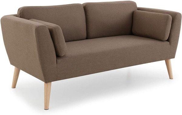 Sofá biplaza madera natural