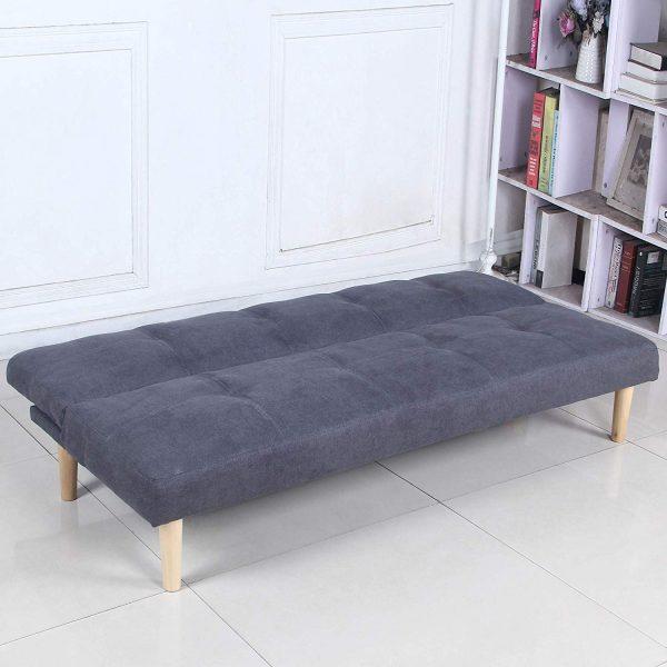 Sofá cama 3 plazas gris oscuro