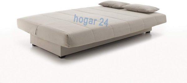 Sofá cama con arcón de almacenaje gris