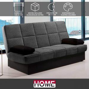 sofa cama gris oscuro 2020