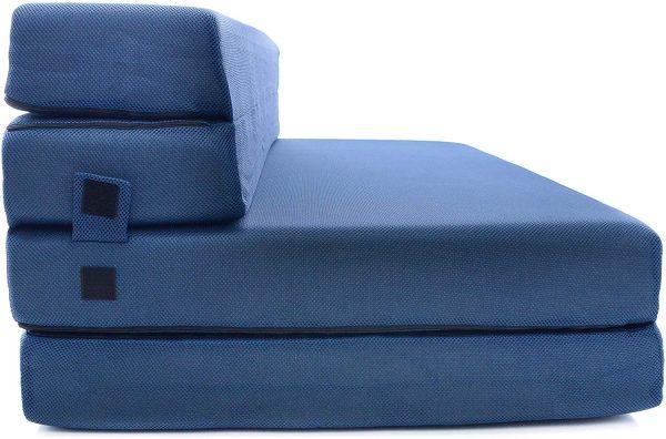Sofá cama plegable en tres partes