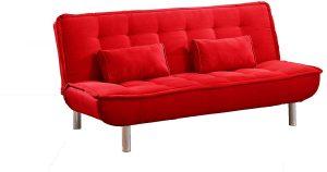 sofa cama rojo 2020