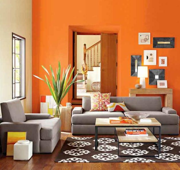 Como pintar una Sala de estar de dos colores