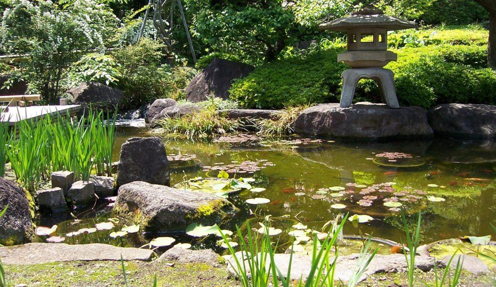 jardín con feng shui