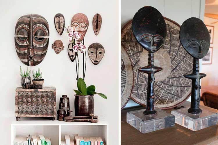 Decora de una manera exótica con el estilo étnico africano